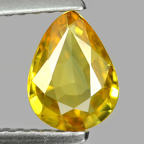 1.04 Ct. Natural Gemstone Yellow Sapphire Pear Shape 7.5 x 5.6 Mm. From Thailand