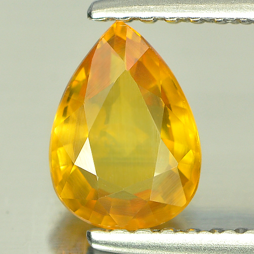 0.99 Ct. Pear Shape Natural Yellow Sapphire Gemstone