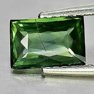 1.17 Ct. Baguette Shape Natural Gemstone Green Sapphire Thailand Heated Only