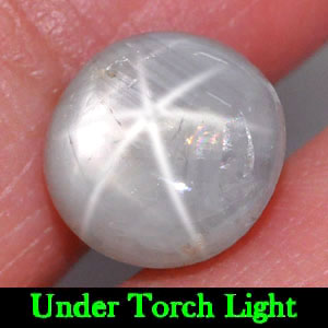 4.90 Ct. Attractive Round Cabochon Natural Gray Star Sapphire 6 Rays Thailand