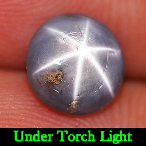 1.92 Ct. Round Cabochon Natural Gem Blue Star Sapphire 6 Rays Unheated
