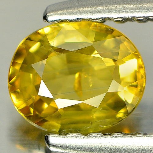 0.51 Ct. Oval Shape Natural Gemstone Yellow Sapphire Thailand
