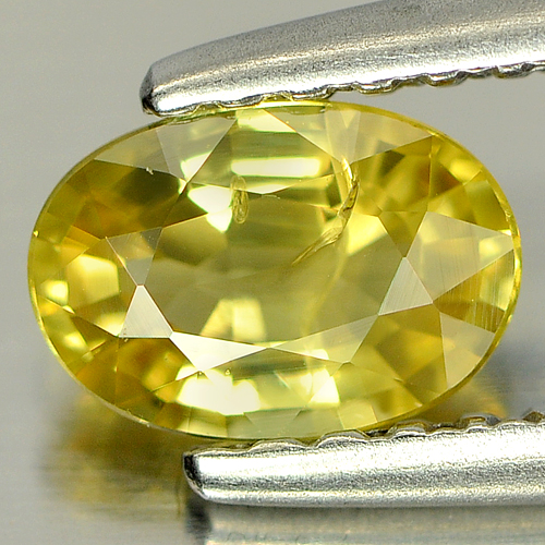 0.65 Ct. Natural Gemstone Yellow Sapphire Oval Shape