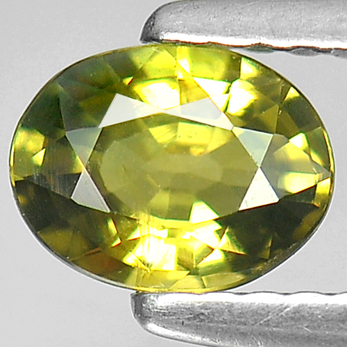 0.71 Ct. Oval Shape Natural Yellow Sapphire Gem
