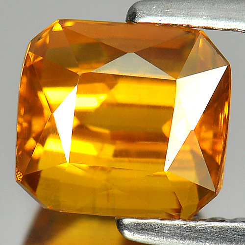 Yellow Sapphire 3.05 Ct. Natural Gemstone Octagon Shape 7.5 x 6.8 Mm. Thailand