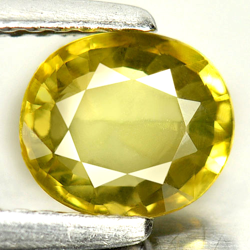 1.14 Ct. Oval Shape 6.9x6 Mm. Natural Gemstone Yellow Sapphire  From Thailand