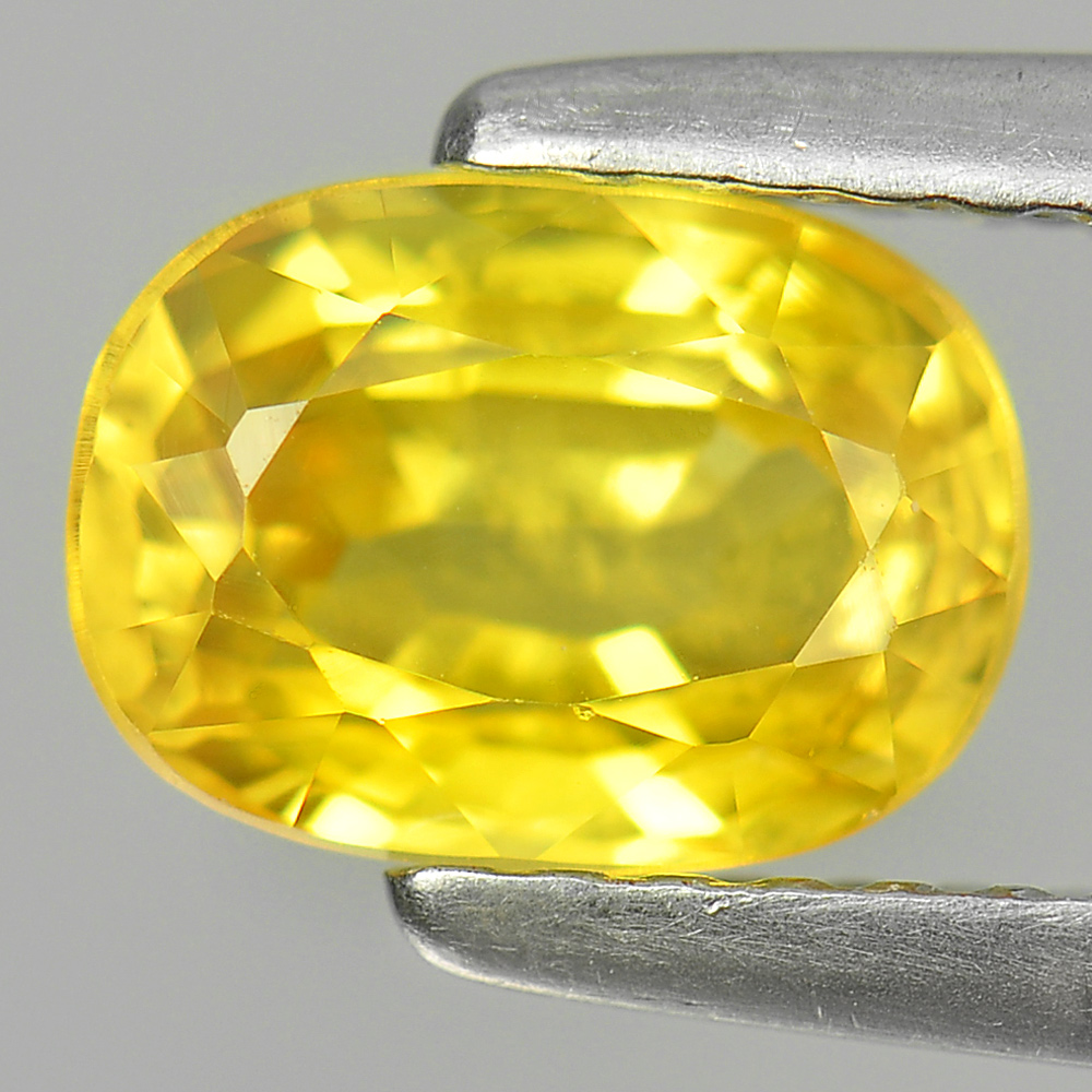 1.54 Ct. Vivid Natural Yellow Sapphire Oval Shape