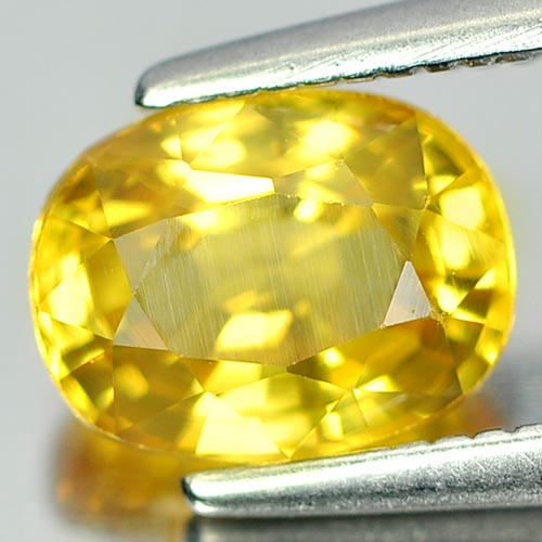 1.56 Ct. Nice Oval Shape Natural Yellow Sapphire Thailand