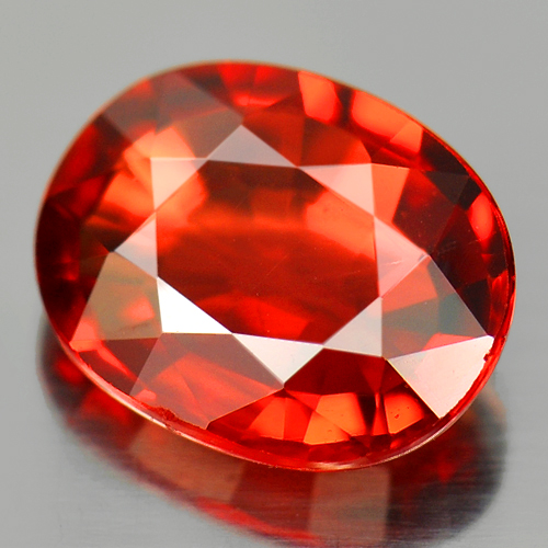 1.38 Ct. Beautiful Oval Natural Gemstones Orange Red Songea Sapphire