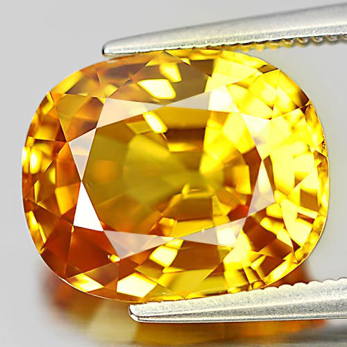Yellow Sapphire Cushion Shape 8.06 Ct. Natural Gemstone Clean From Thailand