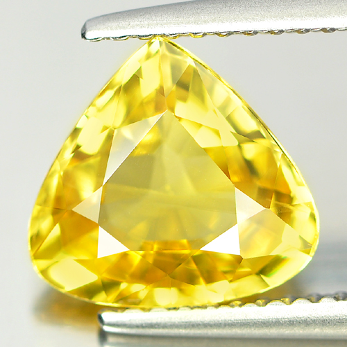 2.74 Ct. Pear Shape Natural Gemstone Yellow Sapphire