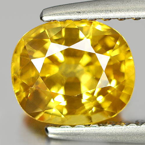 Good Color 1.49 Ct. Natural Gemstone Yellow Sapphire Cushion Shape From Thailand