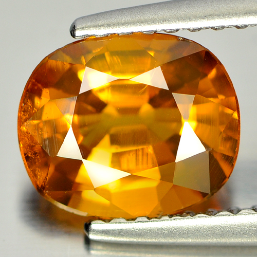 Beauty Color 2.13 Ct. Cushion Shape Natural Gem Orangish Yellow Sapphire