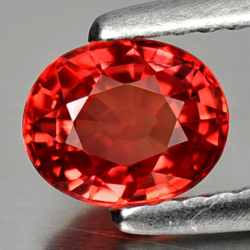 1.06 Ct. Natural Gemstone Red Songea Sapphire Oval Shape 6.3 x 5 Mm.