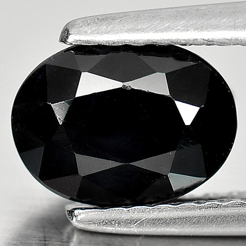 1.57 Ct. Oval Shape Natural Black Sapphire Gemstone