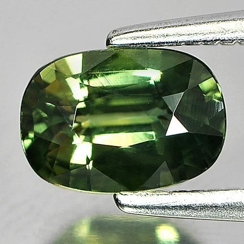 Attractive Gem 0.91 Ct. Cushion Shape Natural Yellowish Green Sapphire