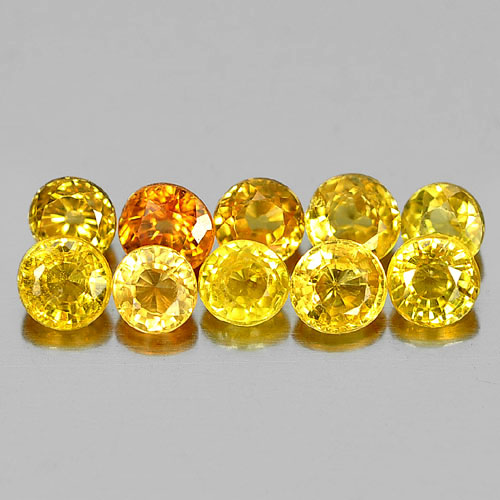 Charming Gems 1.89 Ct. 10 Pcs. Natural Fancy Color Songea Sapphire