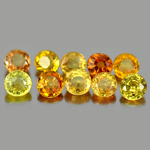 Gems 1.79 Ct. 10 Pcs. Round Shape Natural Fancy Songea Sapphire Tanzania
