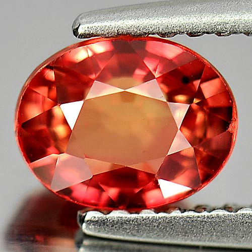 Orangish Red Songea Sapphire 1.41 Ct. Oval Shape Natural GemFrom Tanzania