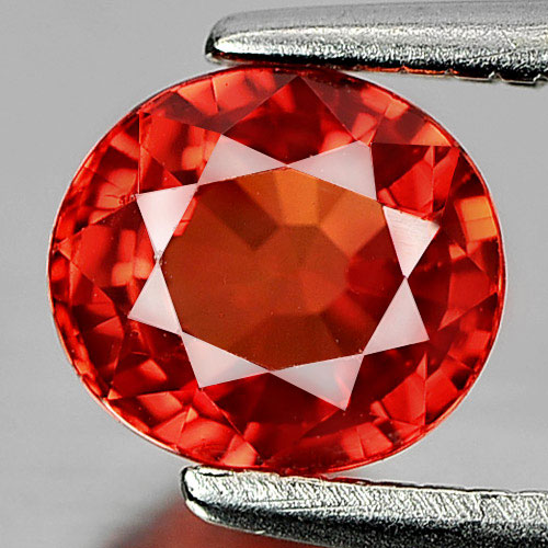 Certified 1.08 Ct. Oval Shape Natural Gemstone Orange Songea Sapphire
