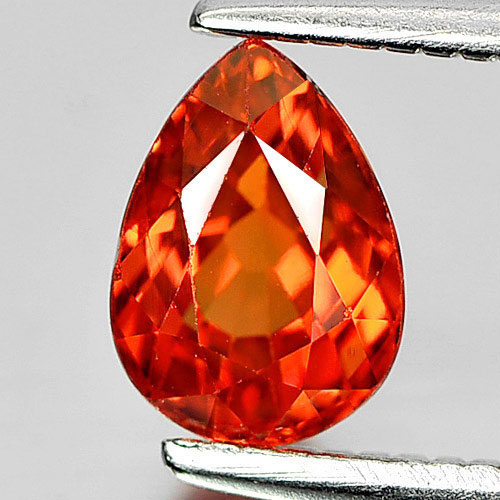 Orange Songea Sapphire Certified 1.06 Ct. Oval Shape Natural Gem From Tanzania