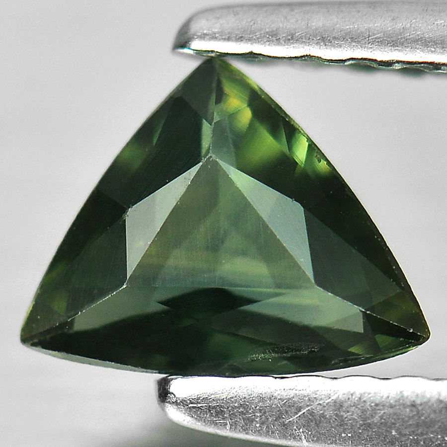 0.51 Ct. Trilliant Shape Natural Gem Bluish Green Sapphire From Thailand