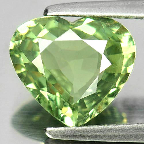 Certified 3.10 Ct. Heart Shape Natural Gem Green Sapphire