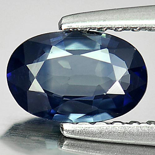0.72 Ct. Alluring Oval Natural Gemstone Blue Sapphire Thailand