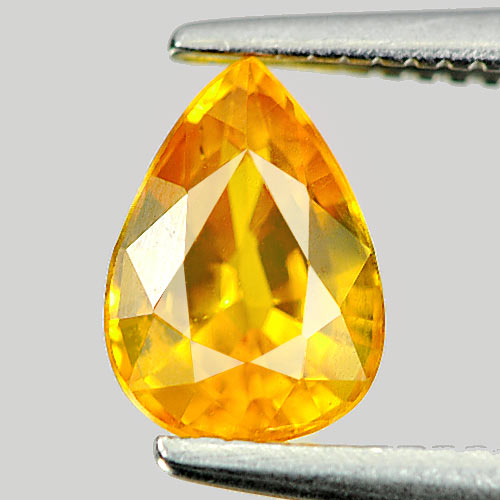 1.10 Ct. Good Color Natural Gem Yellow Sapphire Pear Shape
