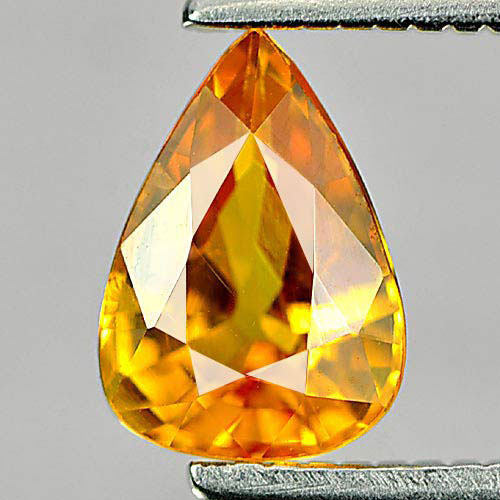 0.95 Ct. Good Cutting Natural Gem Yellow Sapphire Pear Shape