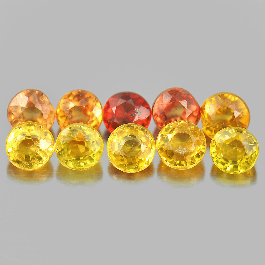 1.77 Ct. 10 Pcs. Round Delightful Natural Gems Multi-Color Songea Sapphire