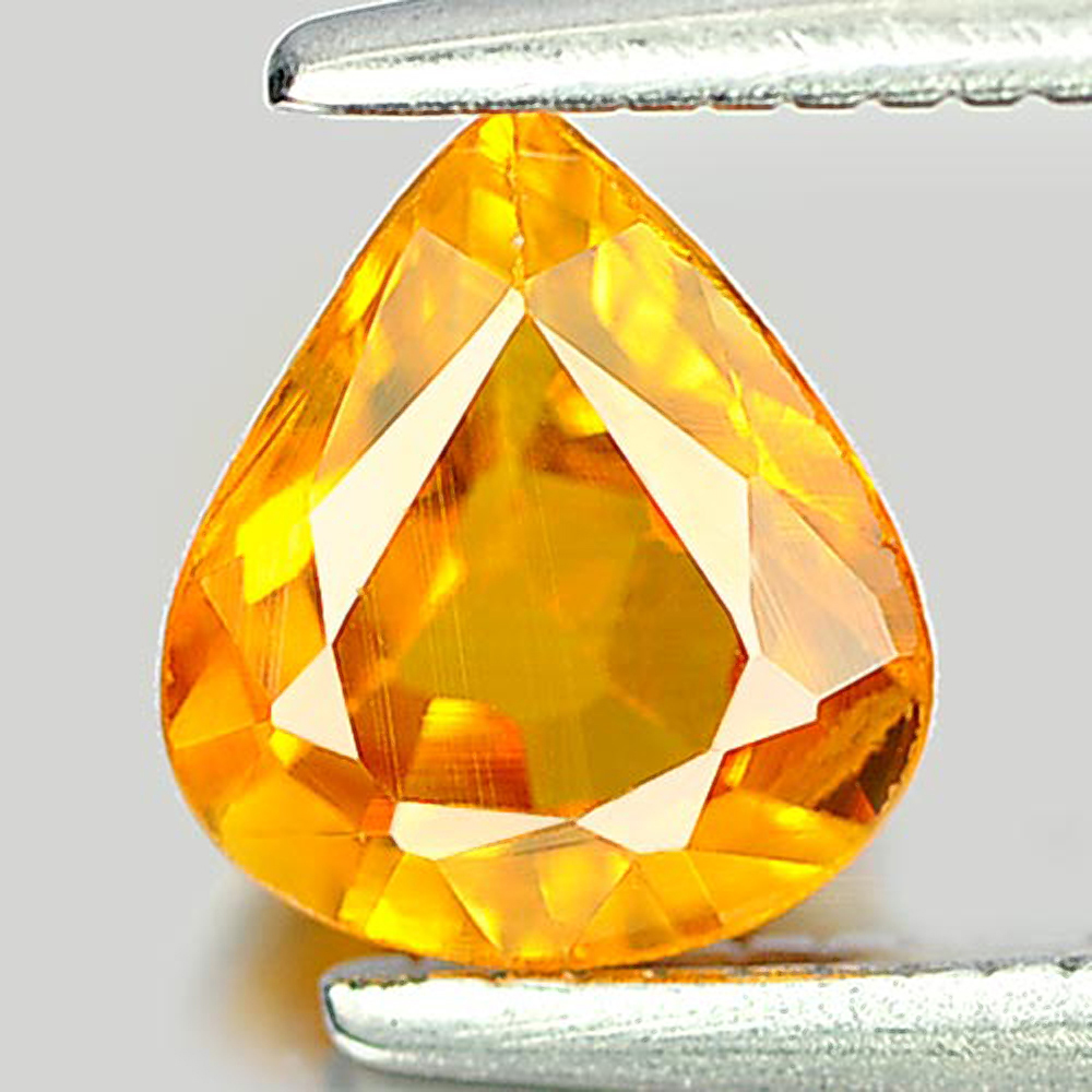 0.84 Ct. Charming Natural Gem Yellow Sapphire Pear Shape