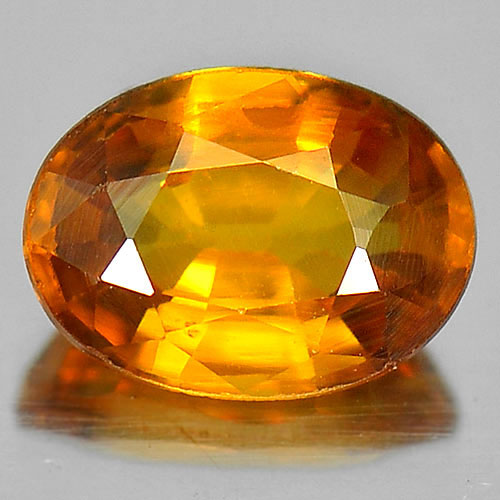 0.75 Ct. Alluring Oval Shape Natural Yellow Sapphire Gemstone