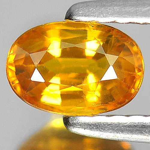 0.73 Ct. Good Color Oval Natural Gem Yellow Sapphire From Thailand