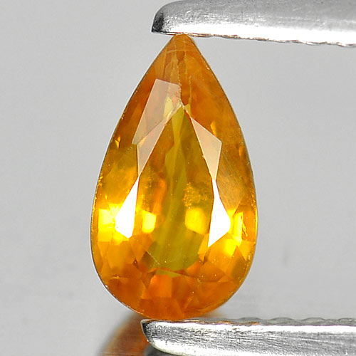 0.75 Ct. Beautiful Pear Natural Gem Yellow Sapphire From Thailand