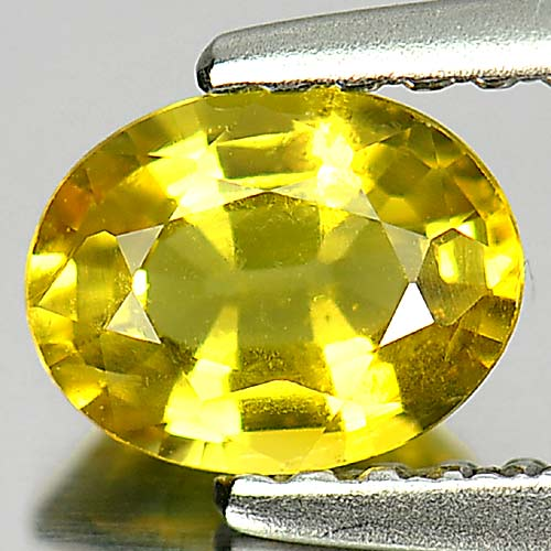 0.75 Ct. Charming Oval Natural Gem Yellow Songea Sapphire Tanzania
