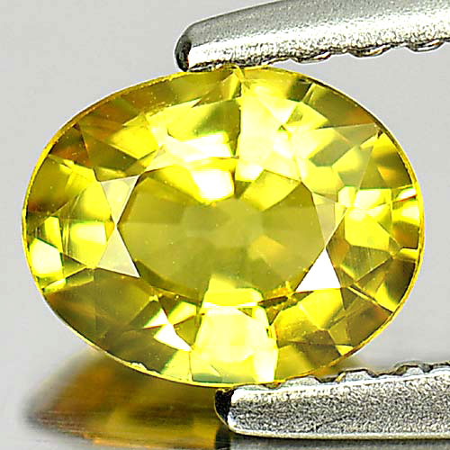 0.63 Ct. Alluring Oval Natural Gem Yellow Songea Sapphire Tanzania