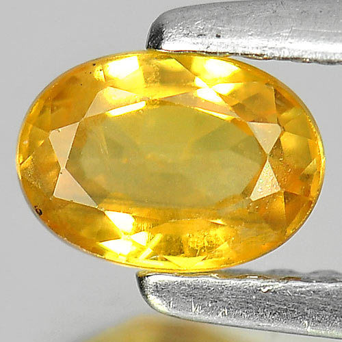0.67 Ct. Good Oval Natural Gem Yellow Sapphire From Madagascar