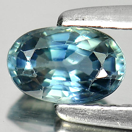 0.66 Ct. Oval Shape Natural Gem Blue Sapphire Size 6 x 4 x 3 Mm.
