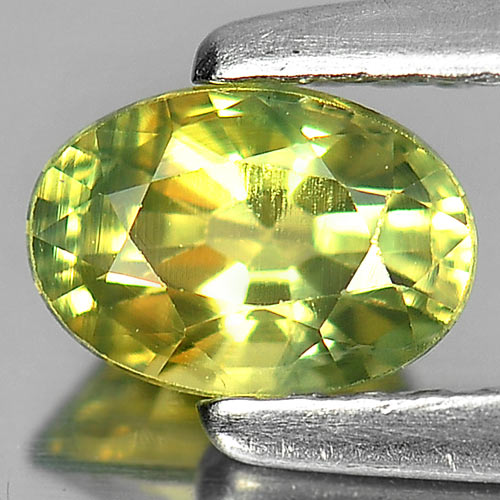 0.69 Ct. Oval Natural Gem Greenish Yellow Sapphire From Madagascar