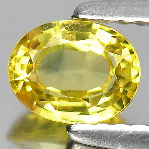 0.73 Ct. Alluring Oval Natural Gem Bluish Yellow Sapphire Madagascar