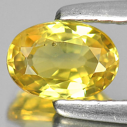 0.67 Ct. Charming Natural Gem Yellow Sapphire Oval Shape