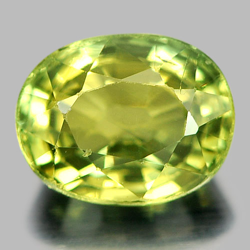 0.74 Ct. Good Color Oval Natural Gem Greenish Yellow Sapphire Madagascar