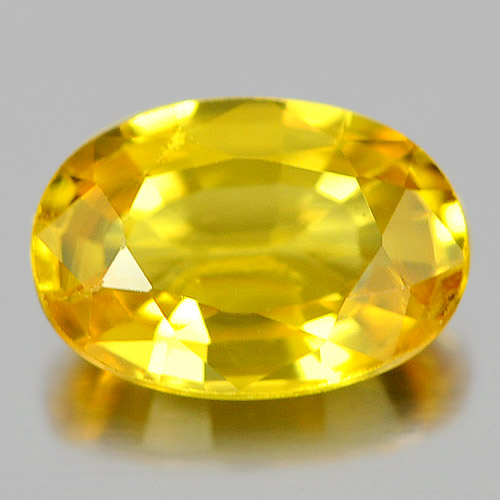 0.61 Ct. Oval Natural Gem Yellow Sapphire From Madagascar