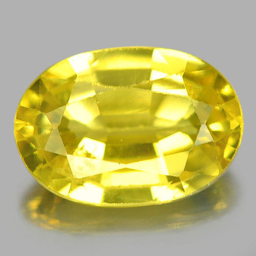 0.65 Ct. Nice Oval Natural Gem Yellow Sapphire From Madagascar