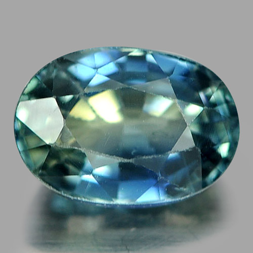 0.77 Ct. Oval Natural Gem Greenish Blue Sapphire Madagascar