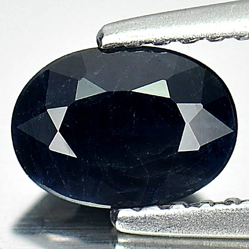 0.99 Ct. Nice Oval Natural Gem Black Sapphire From Australia
