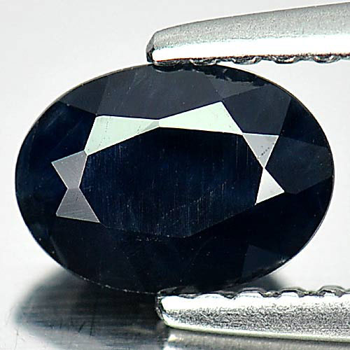 Natural Gemstone 0.90 Ct. Oval Shape Black Sapphire From Australia
