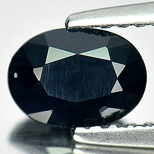 Nice Natural Gem 0.96 Ct. Oval Shape Black Sapphire From Australia