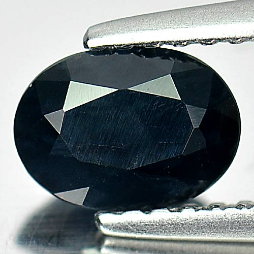 1.01 Ct. Oval Natural Gem Black Sapphire From Australia